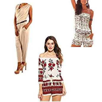 Collage von Damenkleidern - Sommer