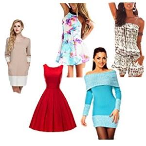 Bunte Auswahl Damenkleider - Sommer