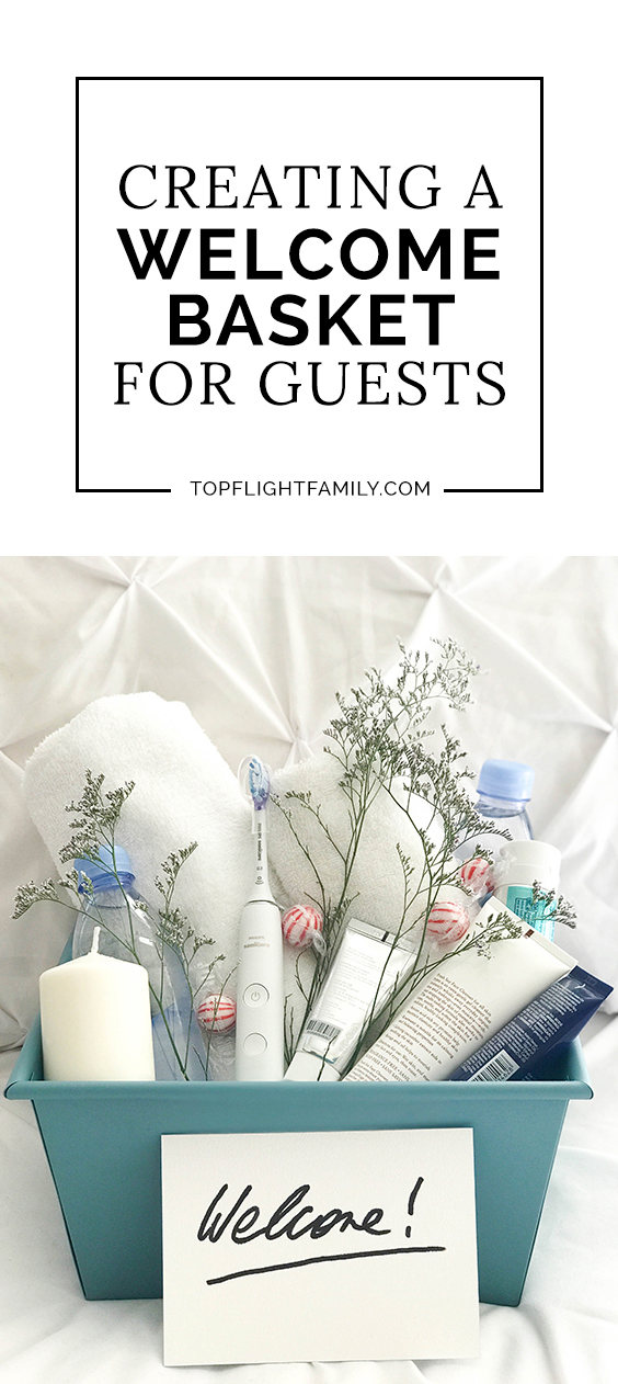 #ad When guests come to stay with you, be an epic host by providing them with a welcome basket. Here are 5 welcome basket ideas for house guests. #WorldsSmartestToothbrush #PhilipsSonicare #OprahsFavoriteThings