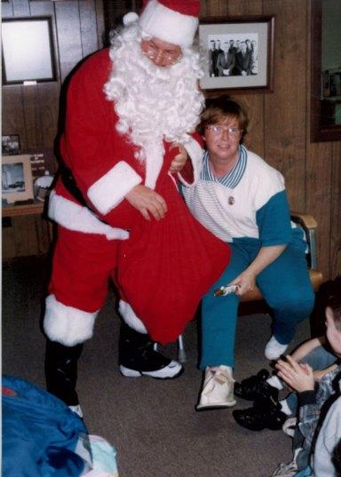Jill with Santa