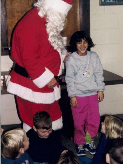 Lauren with Santa