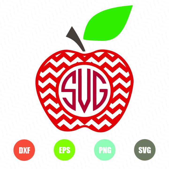 Free apple chevron svg file for cricut and silhouette
