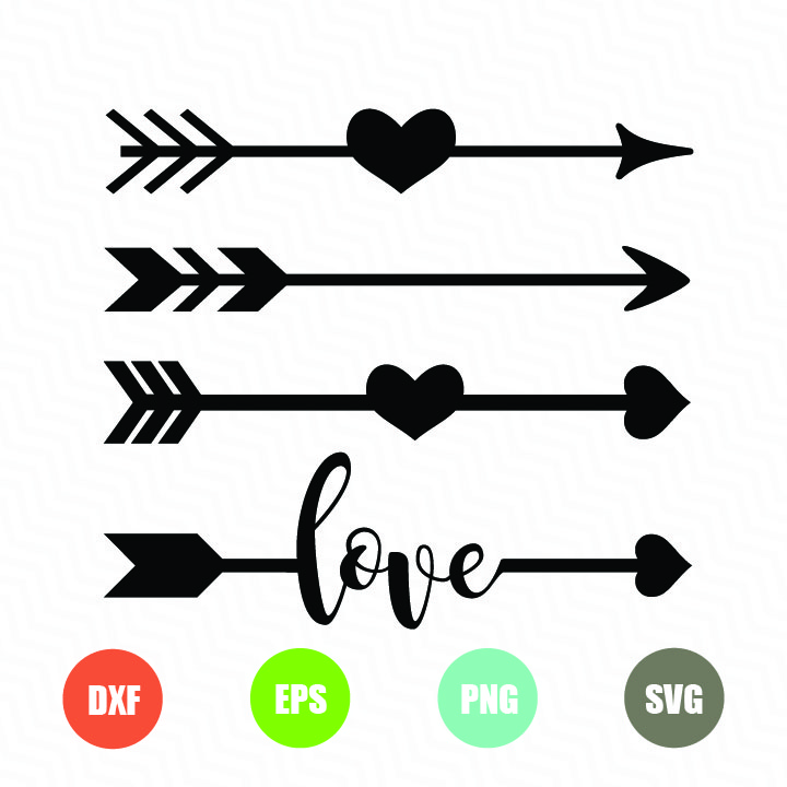 Arrows with Hearts – TopFreeDesigns