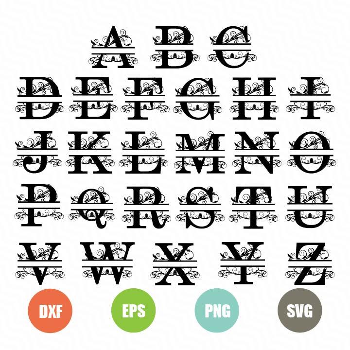 Download Free Split Letters SVG - TopFreeDesigns