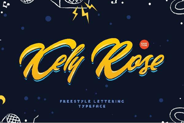 Free Kely Rose Font - TopFreeDesigns