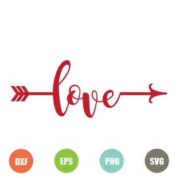 Download Free Love Arrow SVG - TopFreeDesigns
