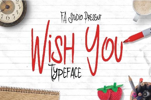 free Wish You Font