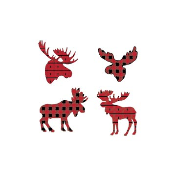 Free Moose Buffalo Plaid Svg files for cricut, silhouetteand other cutting software