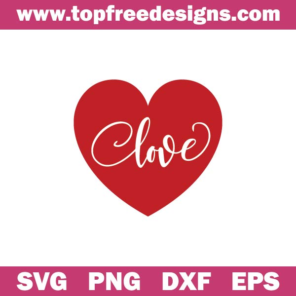 Free Heart SVG file for cutting machines like Cricut, Silhouette Cameo