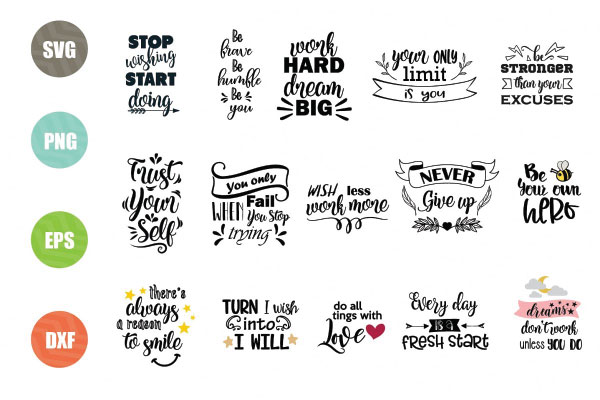 Motivational svg bundle