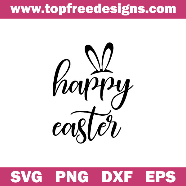 free happy easter svg file