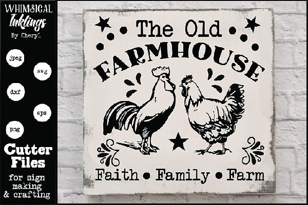 The Old Farmhouse free SVG file