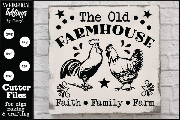 Free The Old Farmhouse SVG