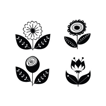Free Retro Flowers svg files for Cricut