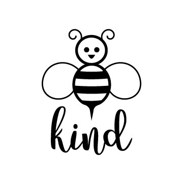 Bee kind free svg file for cricut