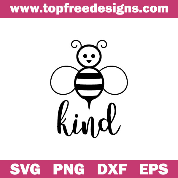 Bee kind free svg file