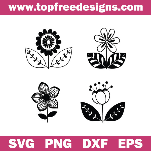 Free flowers svg files