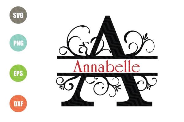 Split Letters A-Z SVG