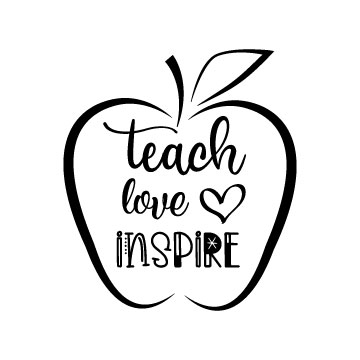 Teach Love Inspire free svg file for cricut-01