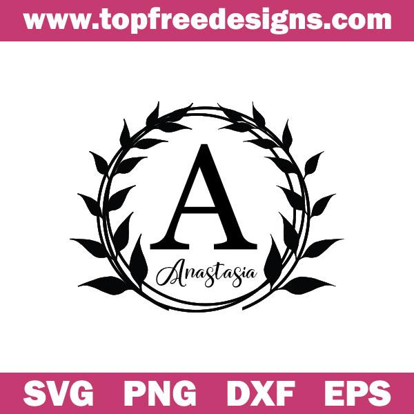 Free floral frame svg file