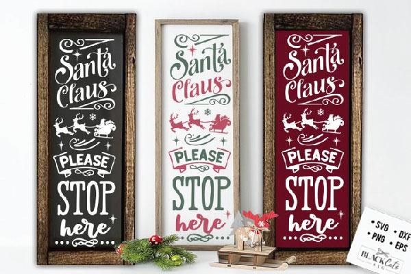 Christmas porch sign SVG