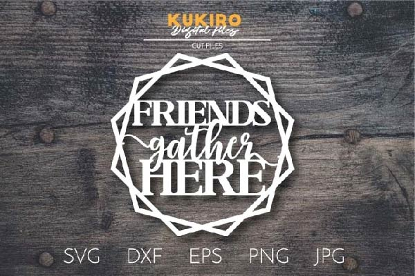 Friends gather here SVG