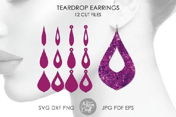 FREE Teardrop earring SVG bundle