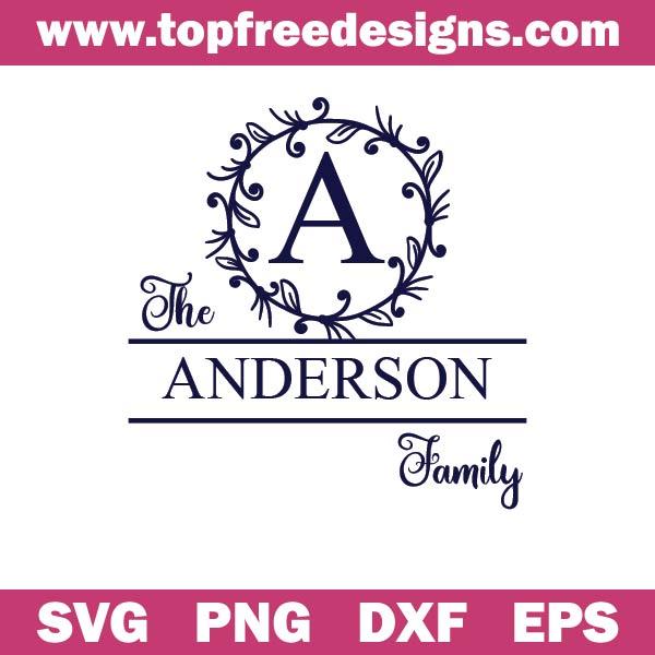 family monogram svg