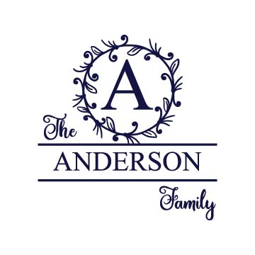 family monogram svg files