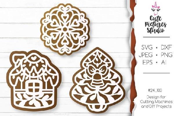 free gingerbread svg