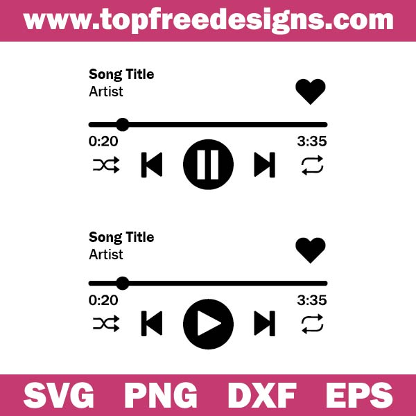 music player svg