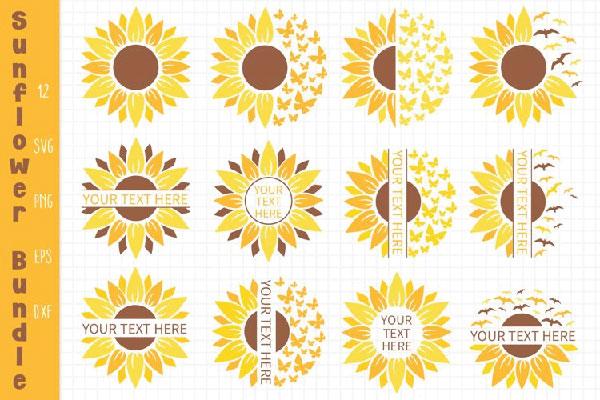 free Sunflower Bundle Svg