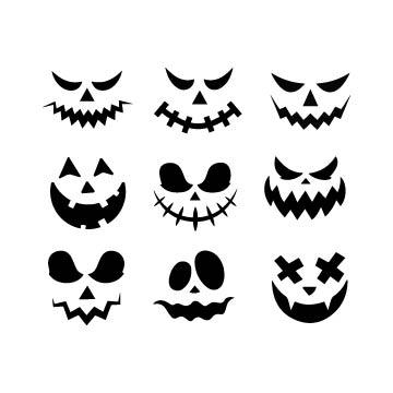 pumpkin face svg file free