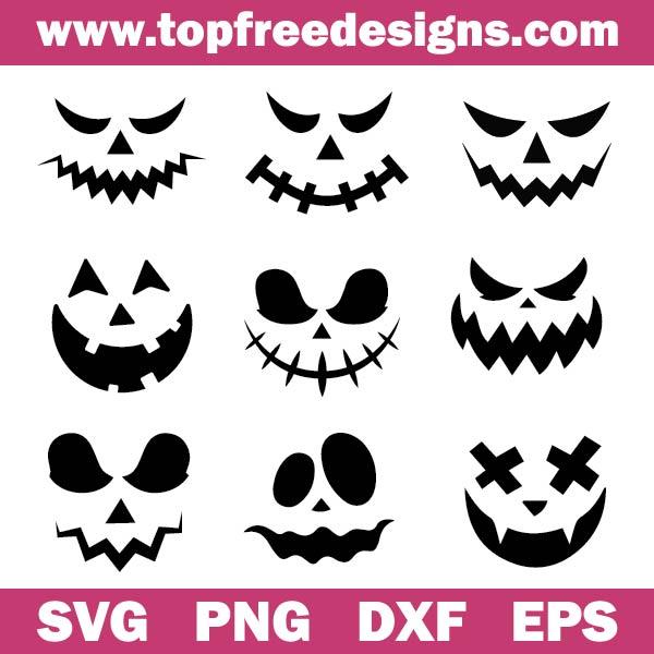 pumpkin face svg free
