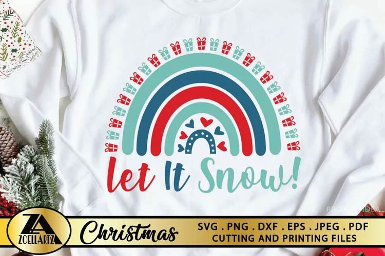 Let It Snow SVG Christmas free