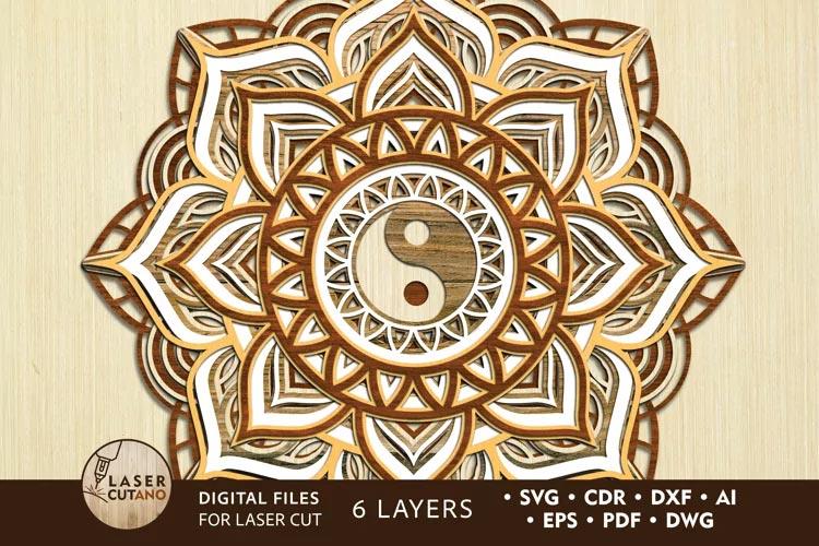 Multilayer Mandala svg free