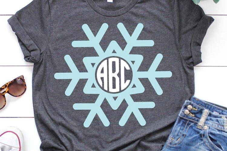 Snowflake Monogram SVG free