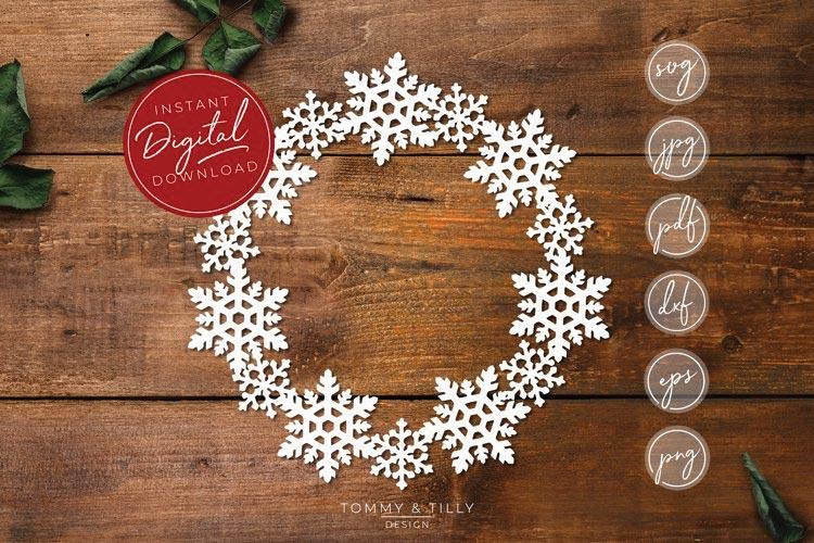 Snowflake Wreath svg free