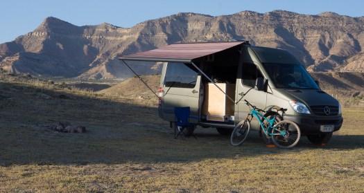 Geek's plastidipped van (picture by Geek on the Sprinter Forum)