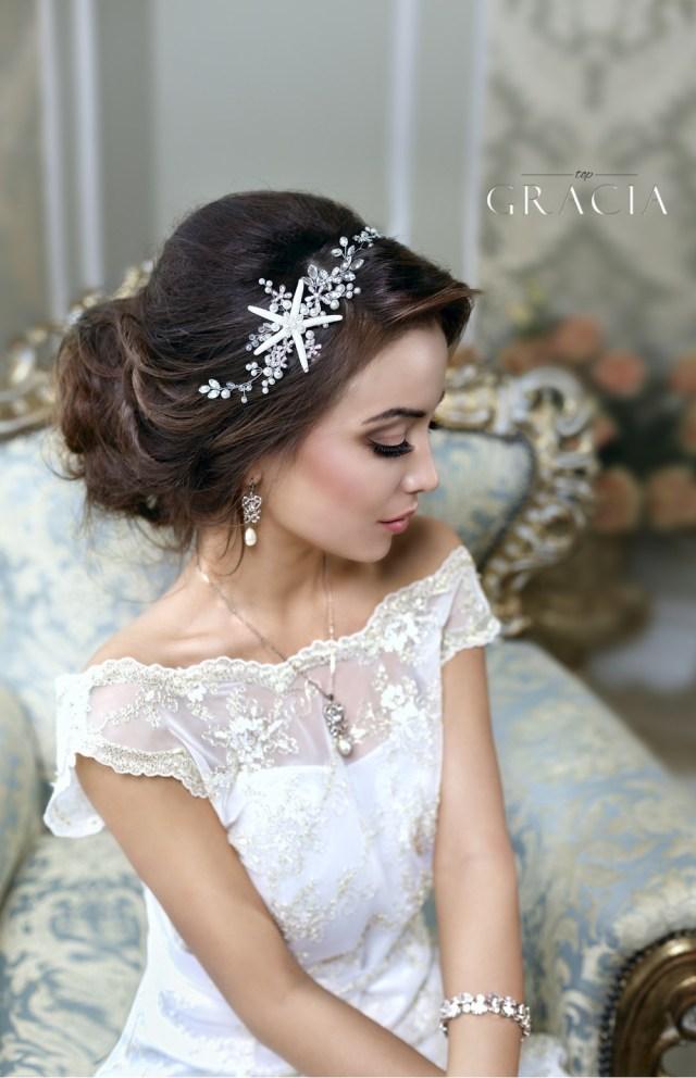 bridal headbands - topgracia handmade bridesmaid bridal hair
