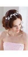 DEMETRA Crystal Flower Bridal Hair Piece By TopGracia