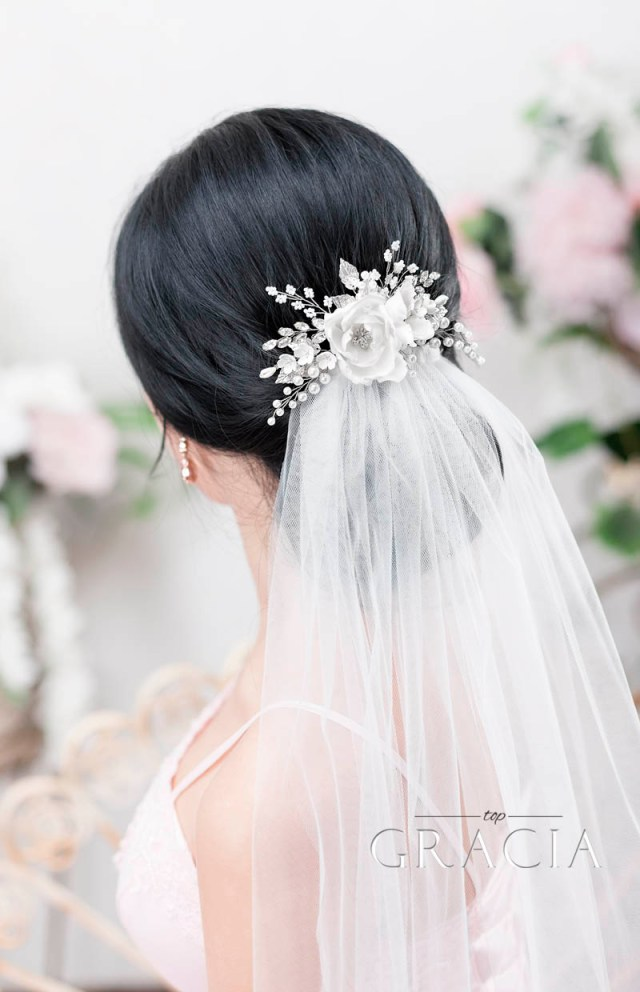 enhance your romantic bridal hair half up half down