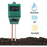 Soil pH Meter, Jellas 3-in-1 Moisture Sensor Meter