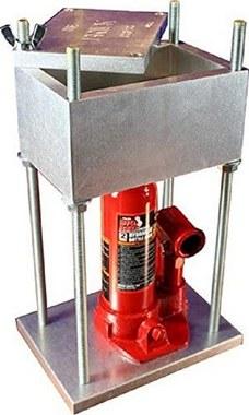 hydraulic pollen press