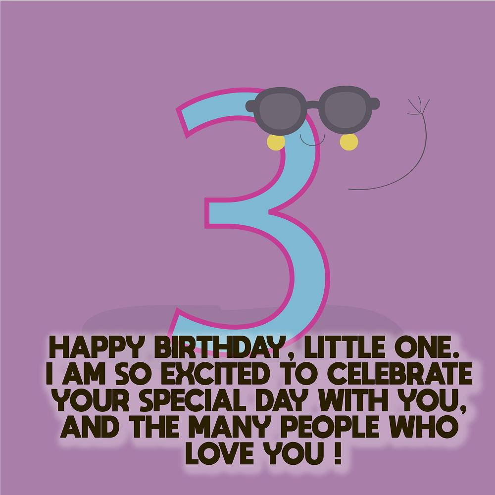 Happy 3rd Birthday Wishes Messages For Kids Top Happy Birthday Wishes