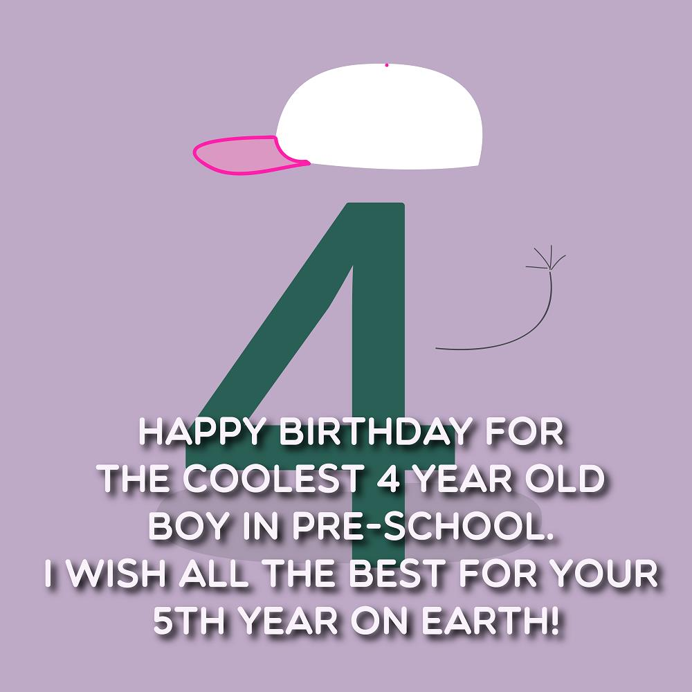Happy 4th Birthday Wishes For A Boy Or A Girl Top Happy Birthday Wishes