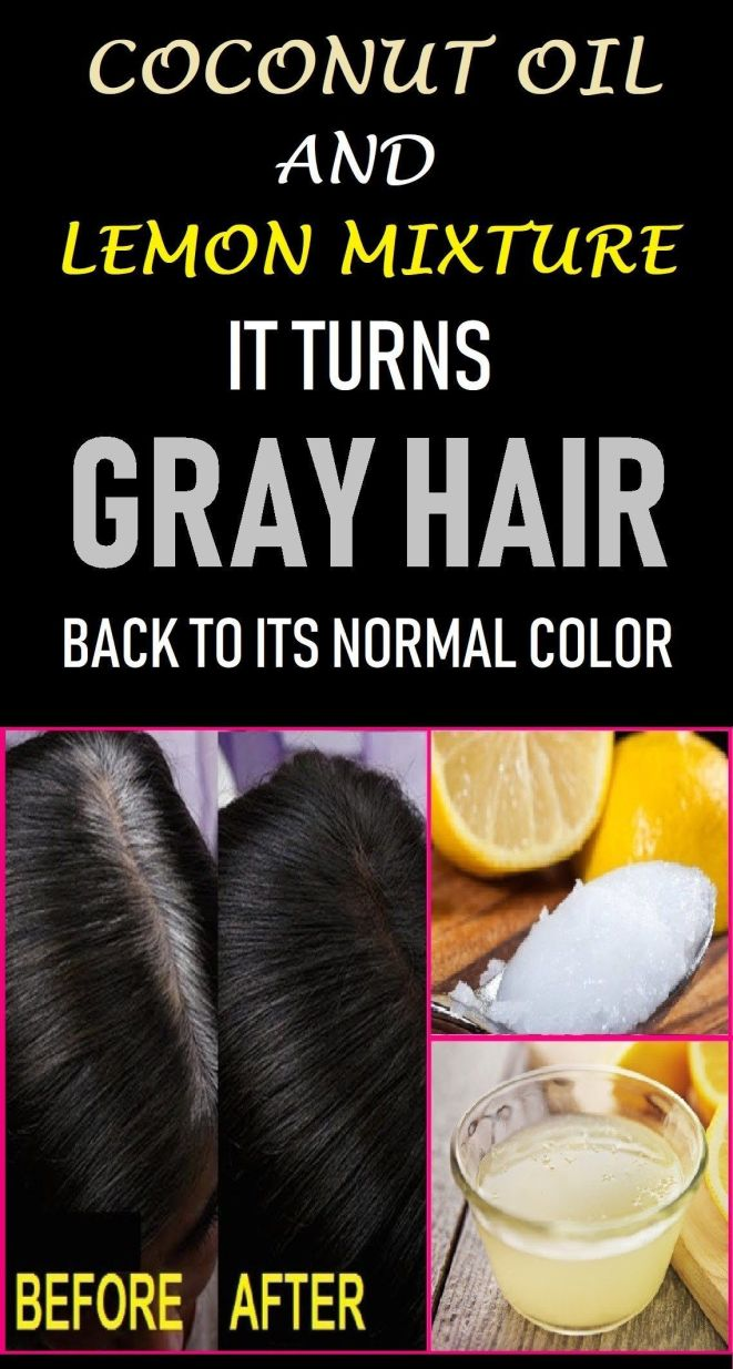 how to use coconut oil and lemon for gray hair