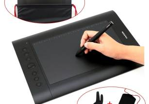 Turcom TS-6610 Graphic Tablet Drawing Tablets and Pen Stylus for PC Mac Computer