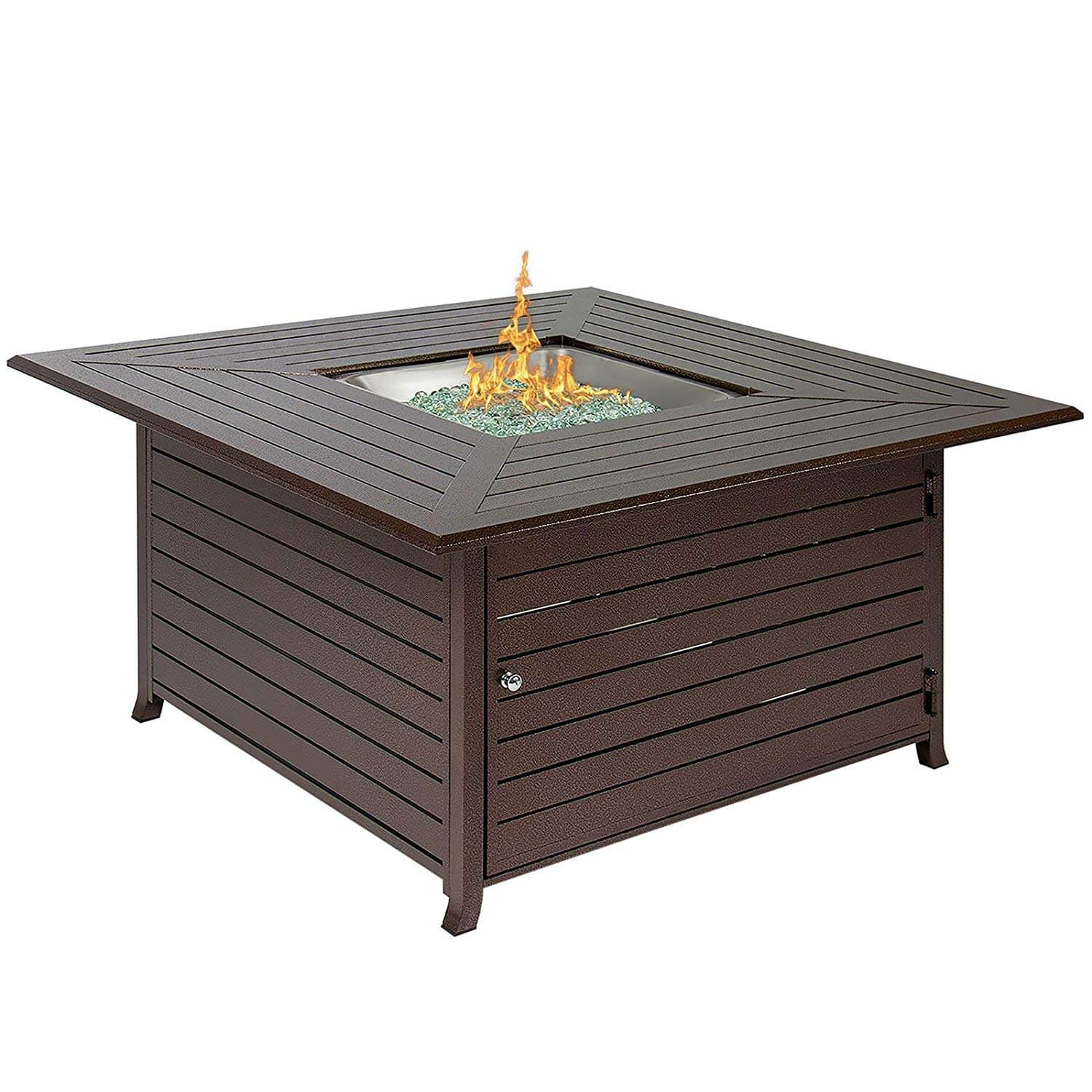 Best Choice Products BCP Extruded Aluminum Gas Outdoor Fire Pit Table
