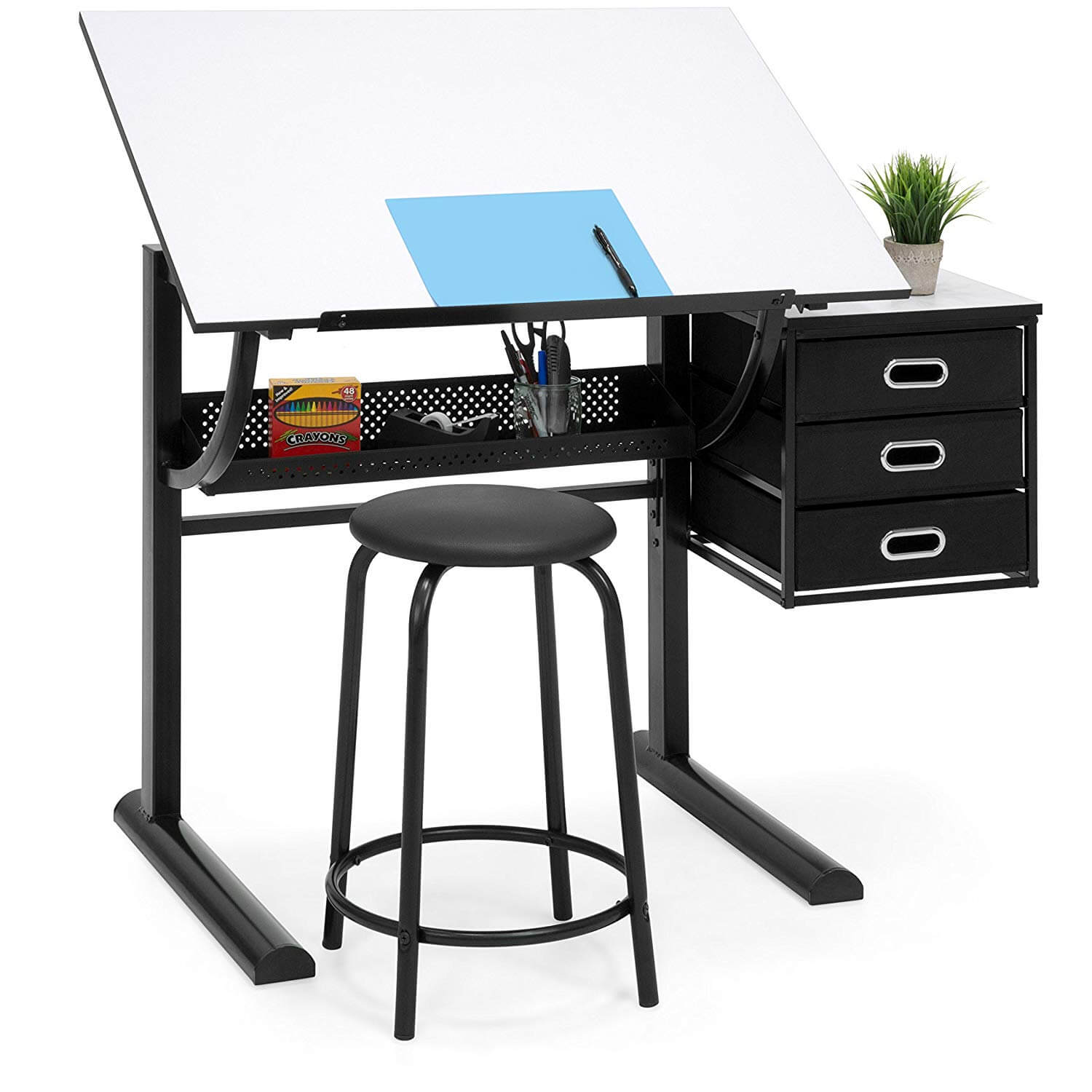 Best Choice Products Drawing Drafting Craft Art Table Folding Adjustable Desk